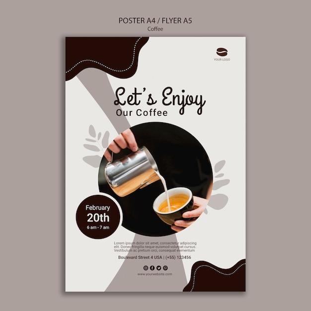 Szablon Plakat Pyszne Kawy Darmowe Psd