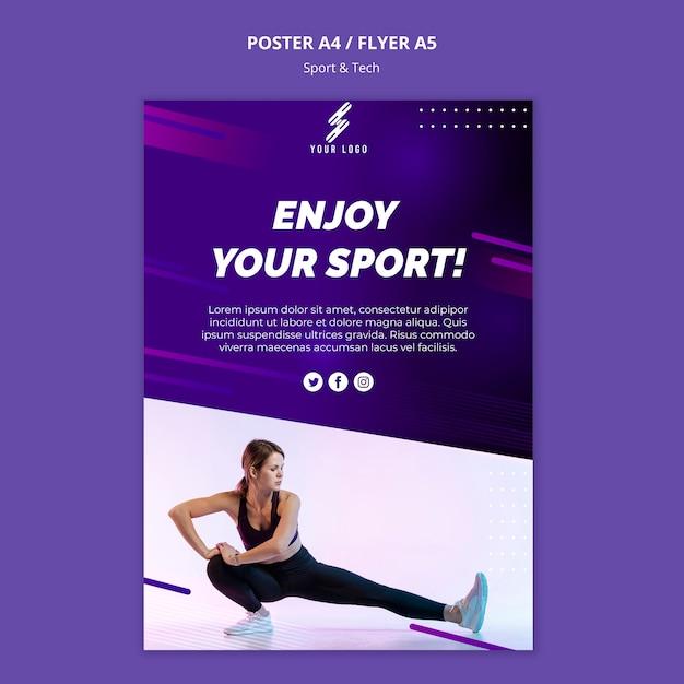 Szablon Plakat Sportu I Technologii Ze Zdjęciem Darmowe Psd