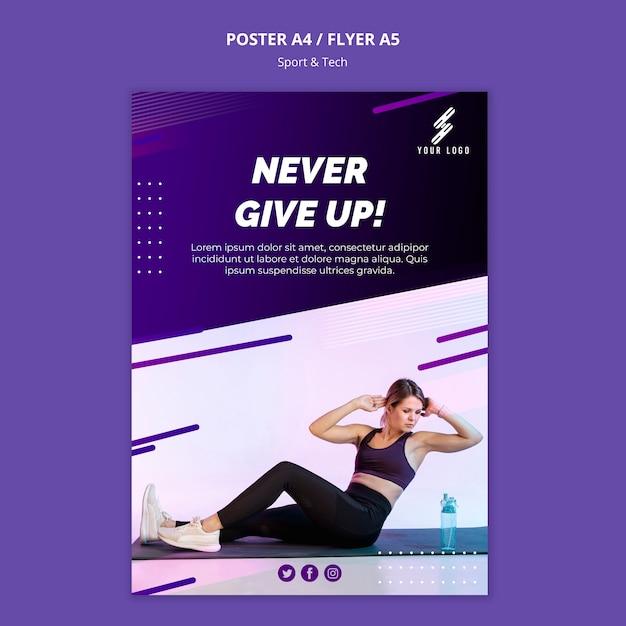 Szablon Plakat Sportu I Technologii Darmowe Psd
