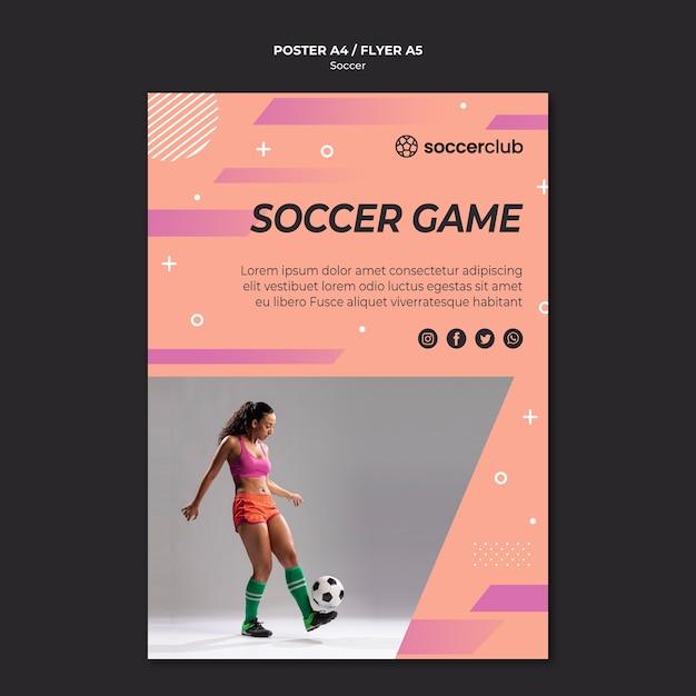 Szablon Plakatu Dla Piłki Nożnej Darmowe Psd