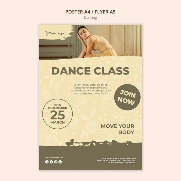 Szablon Plakatu Klasy Tańca Darmowe Psd