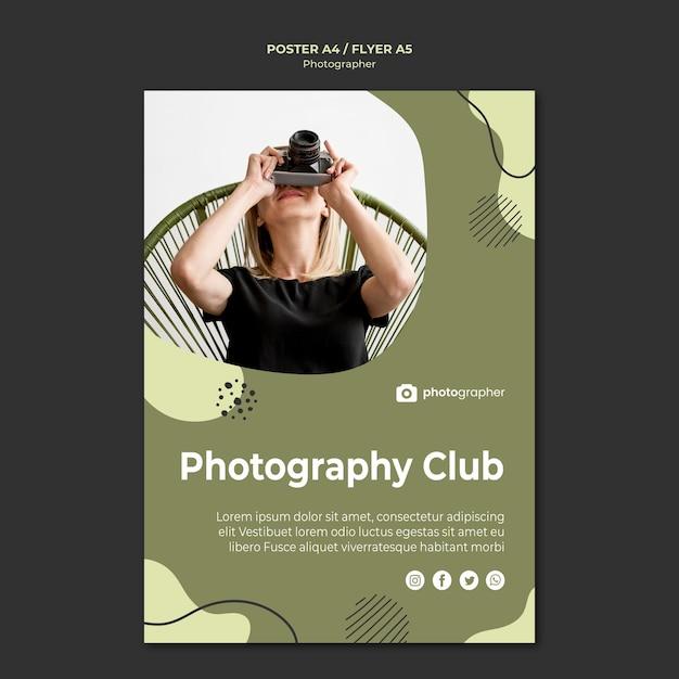 Szablon Plakatu Klubu Fotograficznego Darmowe Psd