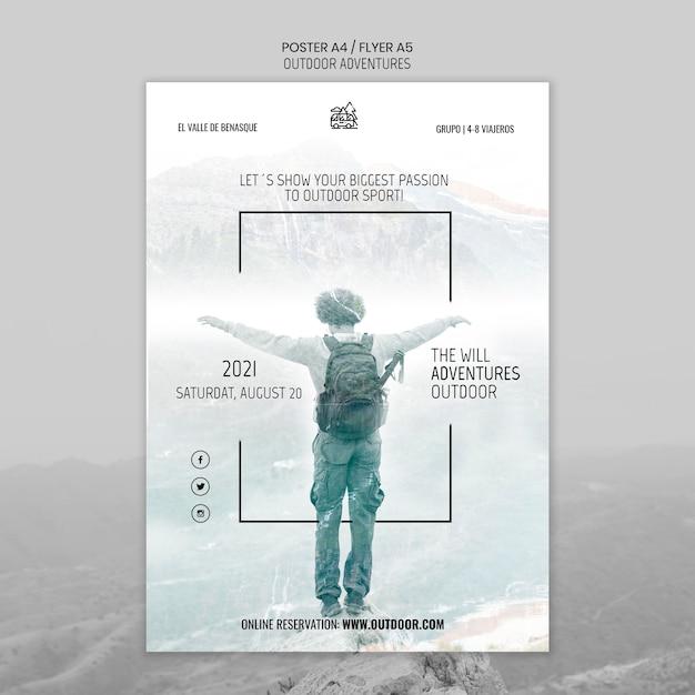 Szablon Plakatu Koncepcja Przygody Na świeżym Powietrzu Darmowe Psd