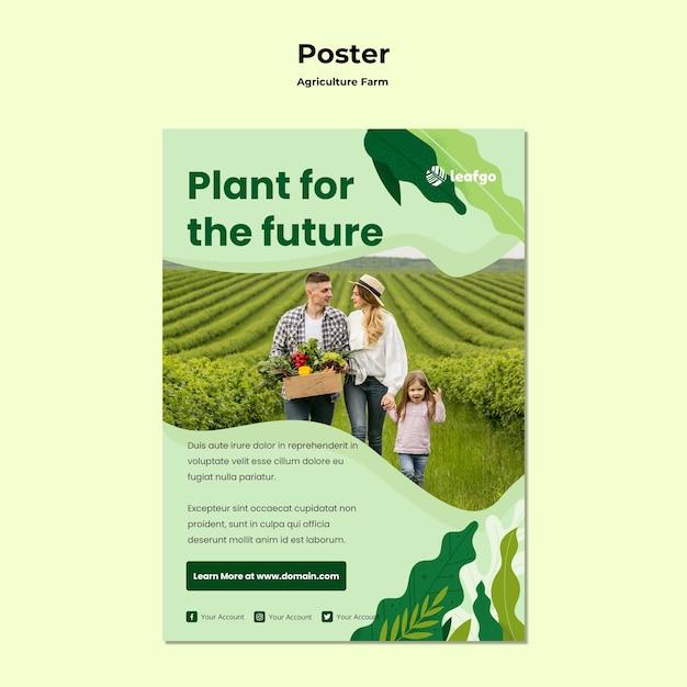Szablon Plakatu Koncepcja Rolnictwa Rolnictwa Darmowe Psd