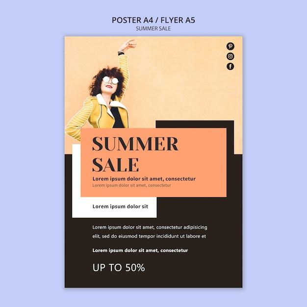 Szablon Plakatu Letniej Sprzedaży Darmowe Psd