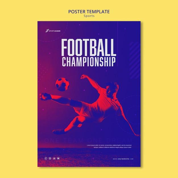 Szablon Plakatu Mistrzostw Piłki Nożnej Darmowe Psd