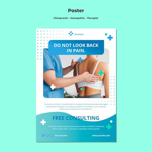Szablon Plakatu Osteopatii Darmowe Psd