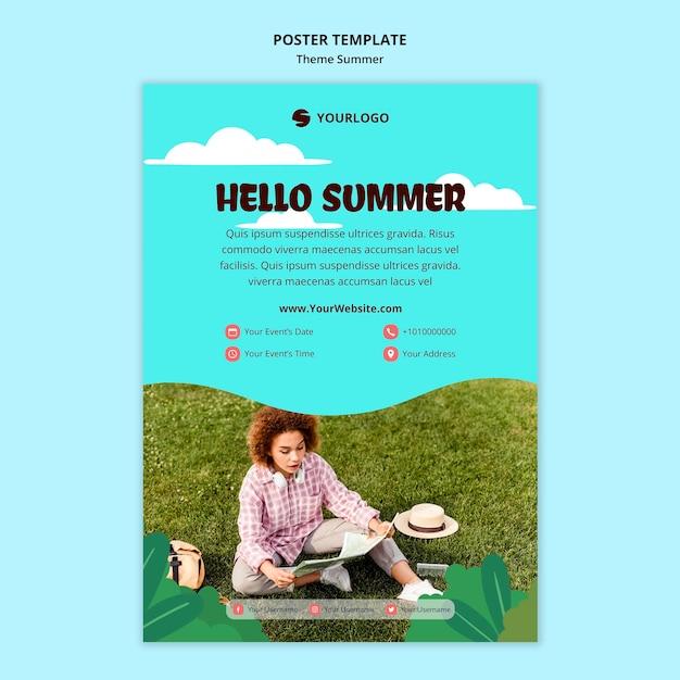 Szablon Plakatu Reklamy Letniej Podróży Darmowe Psd