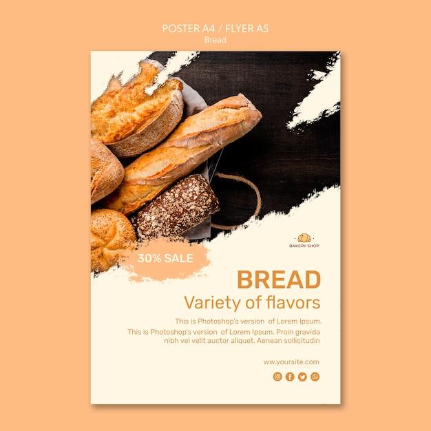 Szablon Plakatu Sklep Chlebowy Darmowe Psd