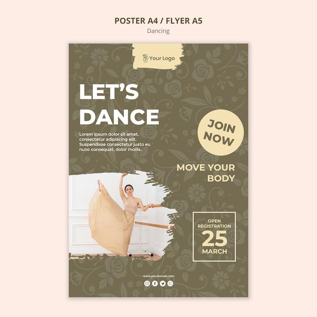 Szablon Plakatu Studio Tańca Darmowe Psd