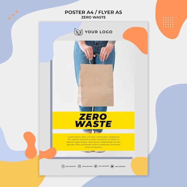 Szablon Plakatu Zero Odpadów Darmowe Psd