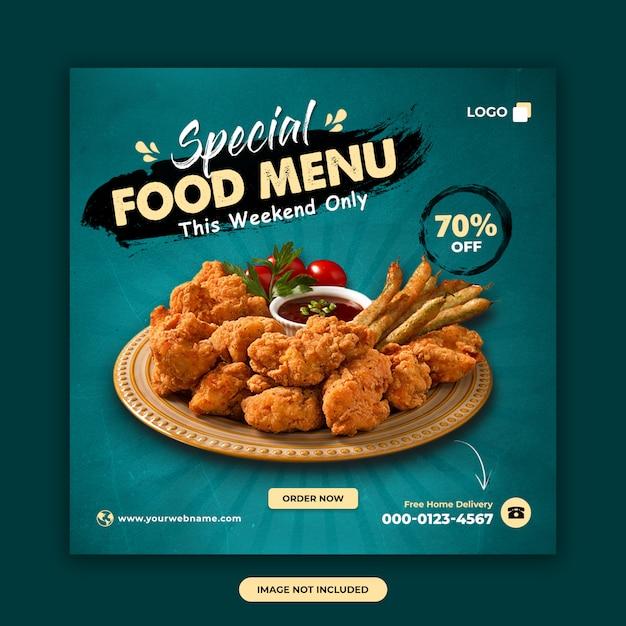 Szablon Post Mediów Społecznościowych żywności I Restauracji Premium Psd