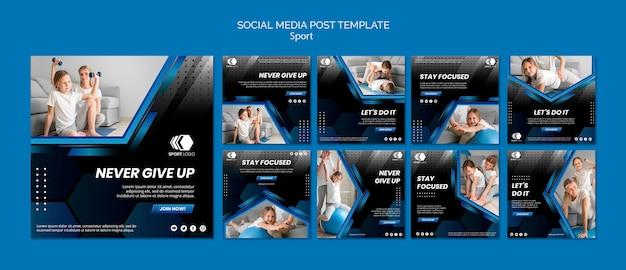 Szablon Postów Sportowych W Mediach Społecznościowych Premium Psd