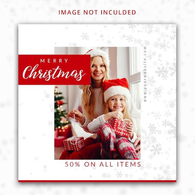 Szablon Postu Na Boże Narodzenie Premium Psd