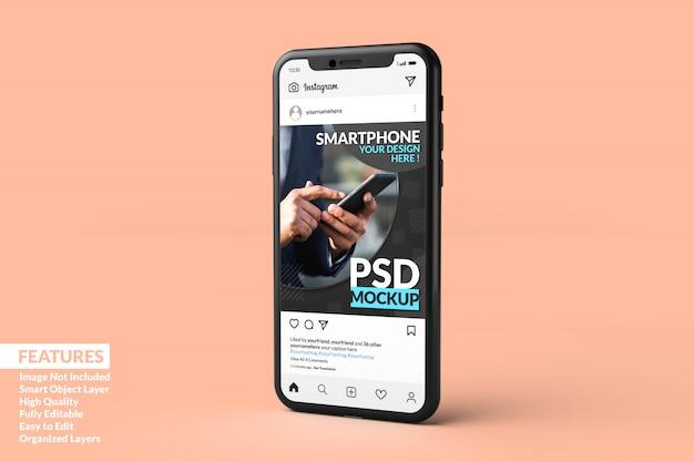 Szablon Postu Na Instagramie Na Makietach Smartfonów Premium Premium Psd