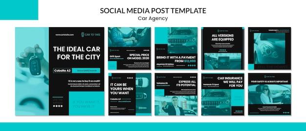 Szablon Postu W Mediach Społecznościowych Agencji Samochodowej Darmowe Psd