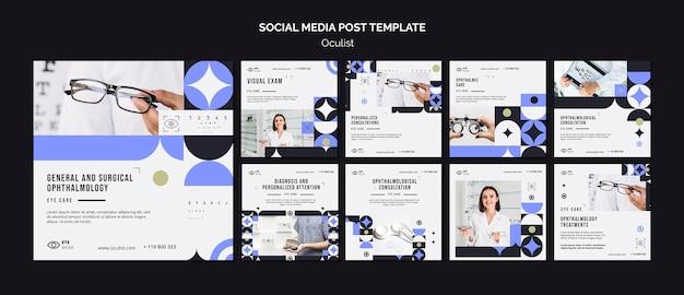 Szablon Postu W Mediach Społecznościowych Oculist Premium Psd