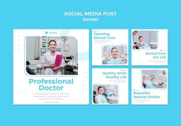 Szablon Postu W Mediach Społecznościowych Reklamy Dentysty Darmowe Psd