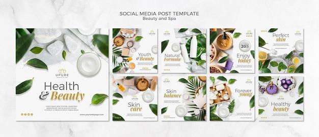 Szablon Postu W Mediach Społecznościowych Uroda I Spa Darmowe Psd