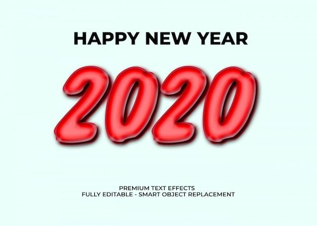 Szablon Premii Efektów Tekstowych 2020 Premium Psd