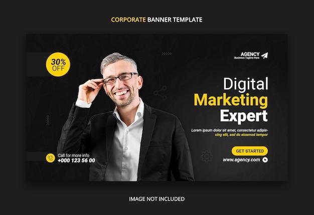 Szablon Projektu Banera Internetowego Marketingu Cyfrowego Premium Psd