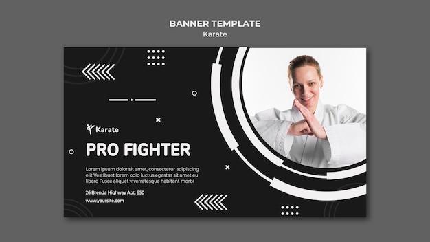 Szablon Promocyjny Klasy Banner Karate Premium Psd
