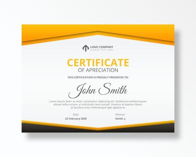 Szablon psd osiągnięcia nowoczesnego certyfikatu Premium Psd