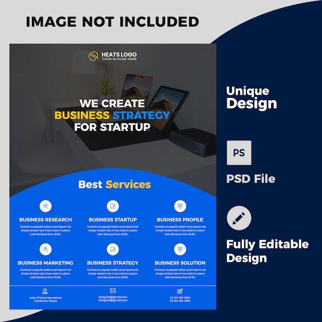 Szablon psd projekt ulotki firmy kreatywnej Premium Psd