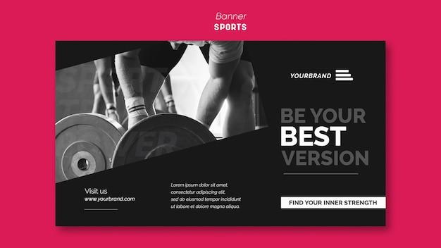 Szablon Reklamy Baneru Sportowego Darmowe Psd