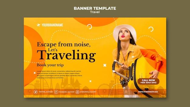 Szablon Reklamy Biura Podróży Baner Darmowe Psd