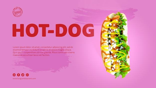 Szablon Reklamy Hot Doga Ze Zdjęciem Darmowe Psd