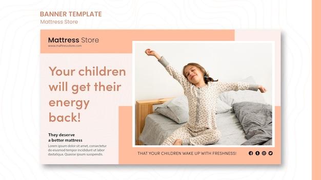 Szablon Reklamy Sklepu Z Materacem Banerowym Darmowe Psd