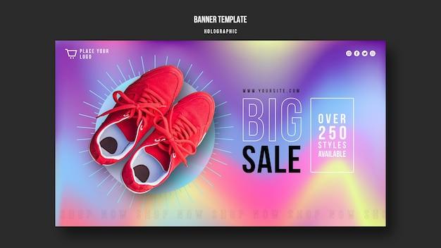Szablon Reklamy Sprzedaży Trampek Banner Premium Psd