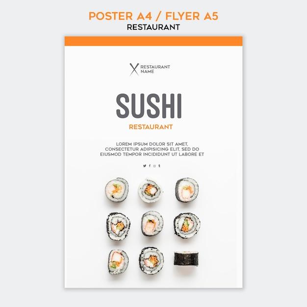 Szablon Restauracji Sushi Darmowe Psd