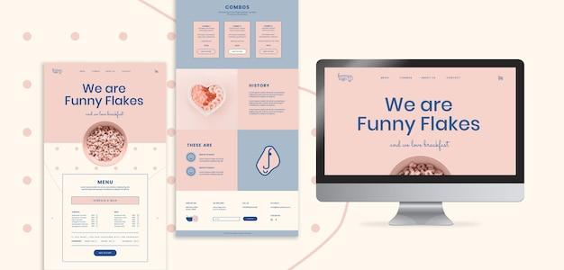 Szablon Sieci Reklamowej Online Dla Restauracji Darmowe Psd