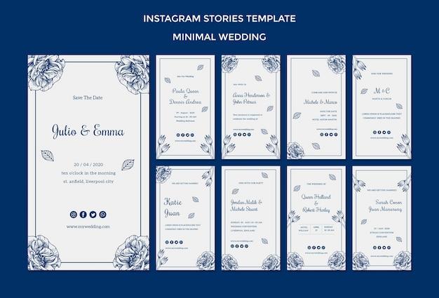 Szablon ślubny Dla Historii Na Instagramie Darmowe Psd