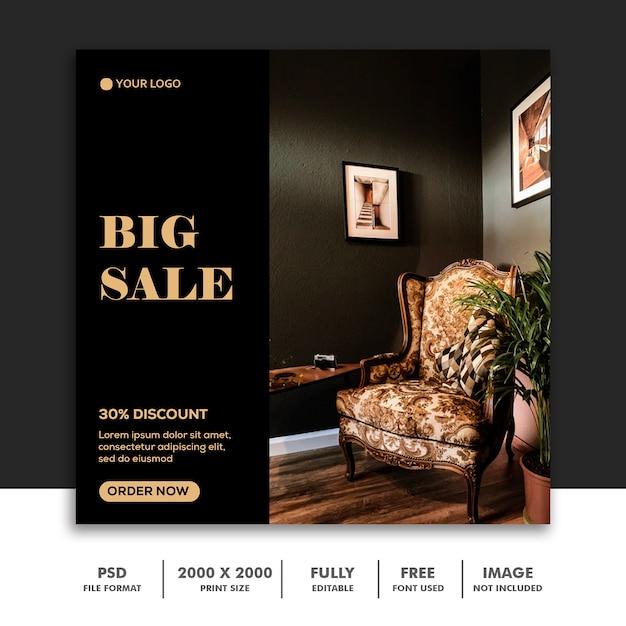 Szablon Sprzedaży Mediów Społecznościowych Duża Sprzedaż Premium Psd