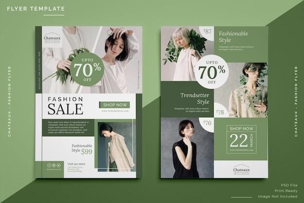 Szablon sprzedaży ulotki mody Premium Psd