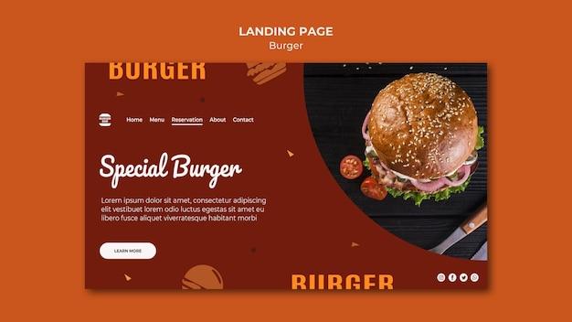 Szablon Strony Docelowej Burgera Premium Psd