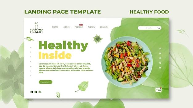 Szablon Strony Docelowej Koncepcji Zdrowej żywności Premium Psd