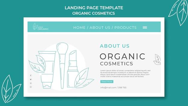 Szablon Strony Docelowej Kosmetyków Organicznych Premium Psd