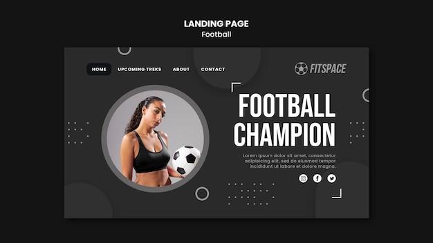 Szablon Strony Docelowej Reklamy Piłki Nożnej Darmowe Psd