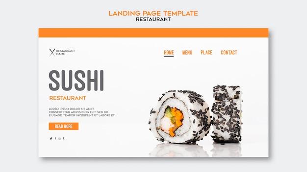 Szablon Strony Docelowej Restauracji Sushi Darmowe Psd