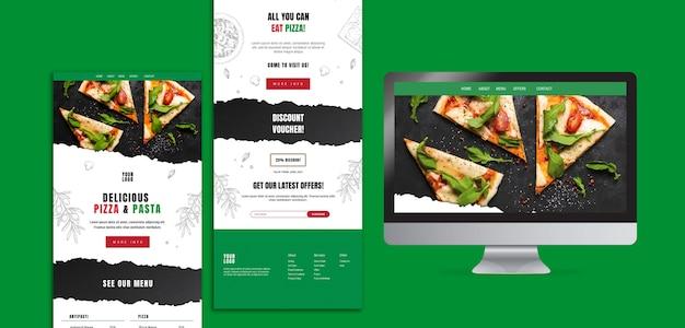 Szablon Strony Internetowej Kuchni Włoskiej Darmowe Psd