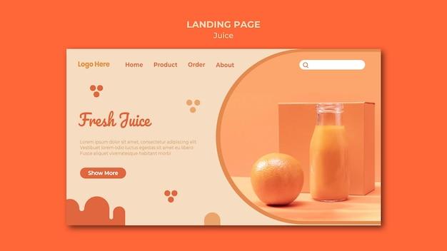 Szablon Strony Internetowej Soku Pomarańczowego Darmowe Psd
