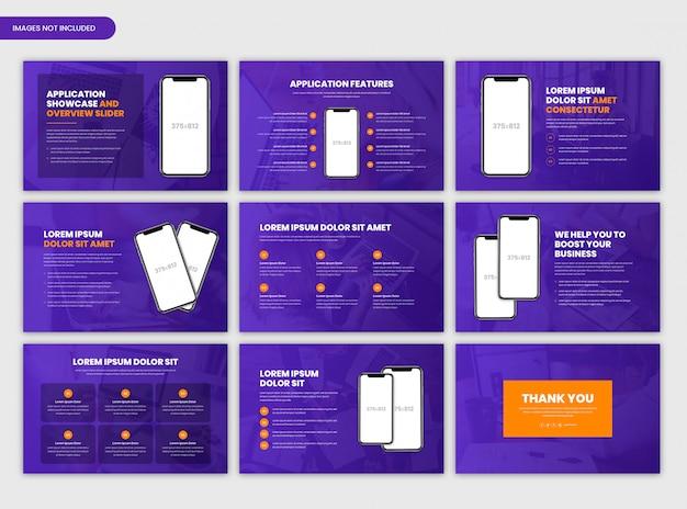 Szablon Suwaka Prezentacji I Prezentacji Aplikacji Premium Psd