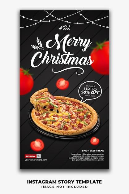 Szablon świąteczny Historie W Mediach Społecznościowych Dla Restauracji Fastfood Menu Pizza Premium Psd