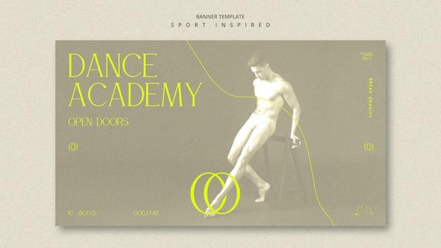 Szablon Transparent Akademii Tańca Darmowe Psd