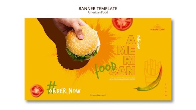 Szablon Transparent Amerykańskie Jedzenie Darmowe Psd