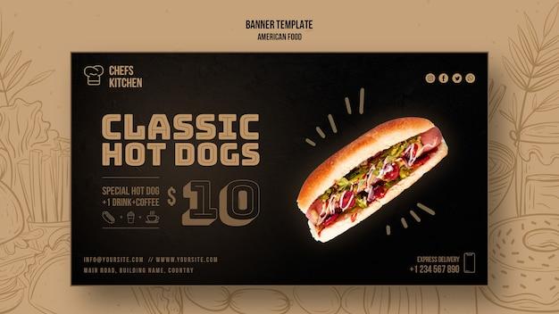 Szablon Transparent Amerykańskie Klasyczne Hot Dogi Darmowe Psd